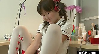 Young Asian Teen Discovering Her Figure