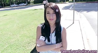 Fledgling teen spunk soaked
